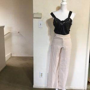 Pants - High quality Linen cream pants